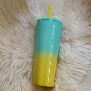 Starbucks SS21 turquoise yellow ombre venti coldcu
